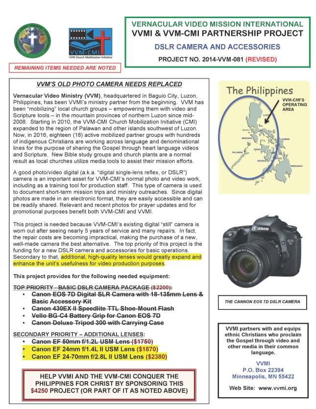 DSLR Camera #81 REV2 9-2015